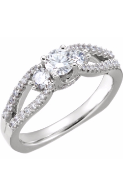 Stuller Three Stone Engagement Ring 67391 product image