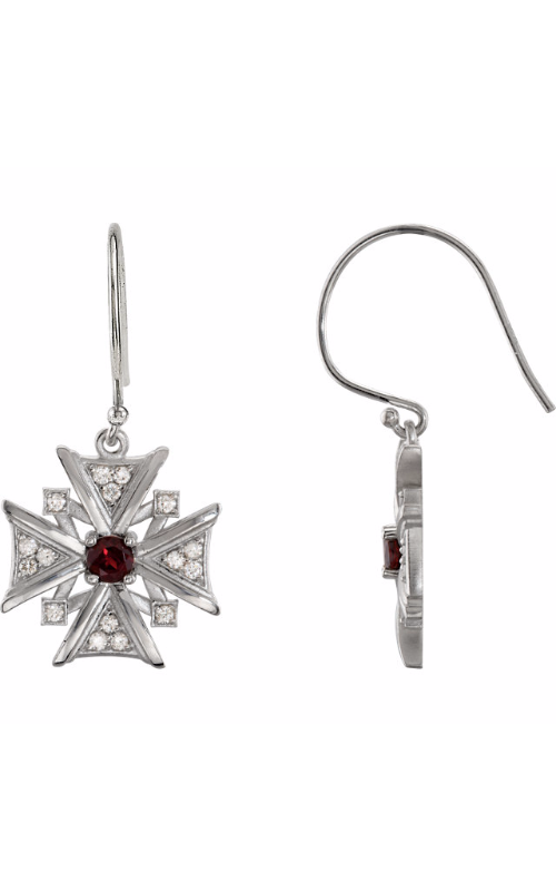 Stuller Religious and Symbolic Earrings 85349 product image