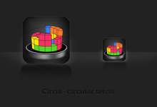 Cirris - Circular Game of Tetris for iPhone_0