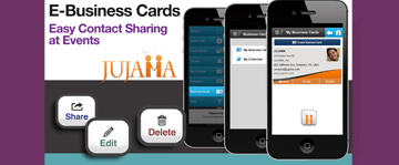 E-Business Cards: Easy Contact Sharing at Events