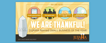We Are Thankful! JUJAMA Named Small Business of the Year