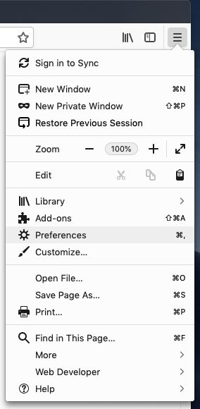 Make LACRM your home page in Firefox