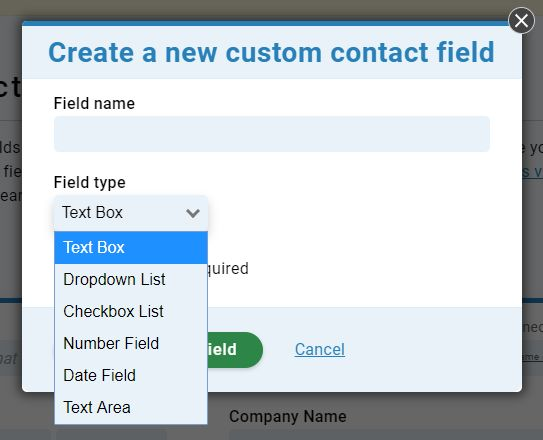Custom Contact Fields