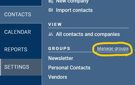 Less Annoying CRM manage groups link