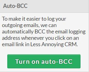 Less Annoying CRM automatic BCC dropbox