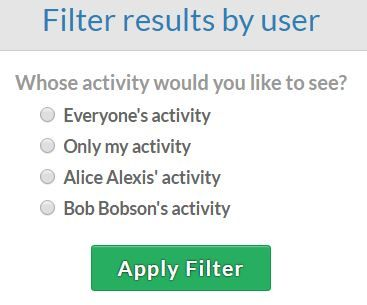 Less Annoying CRM filter by user