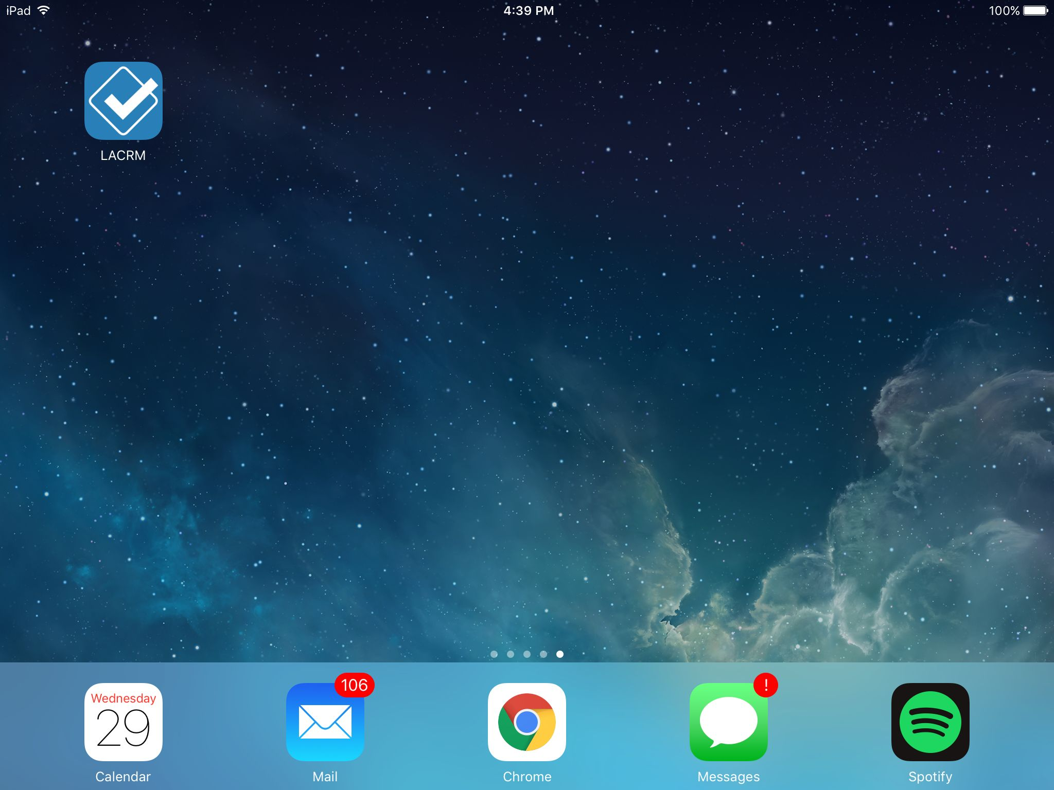 Less Annoying CRM pin on iPad Home Screen