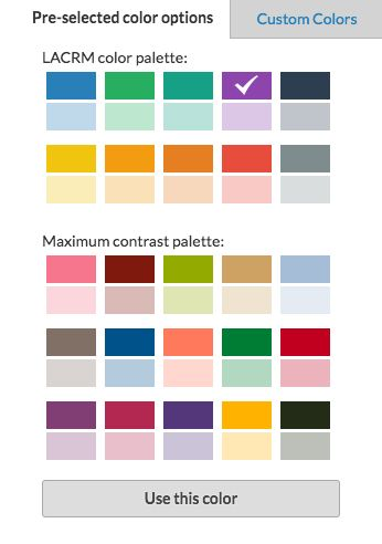 Pre-selected color options