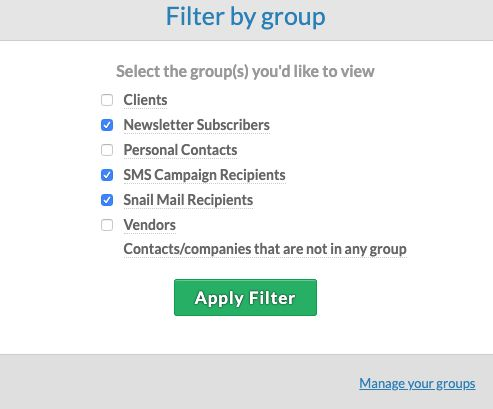 See the contacts in several groups at once!
