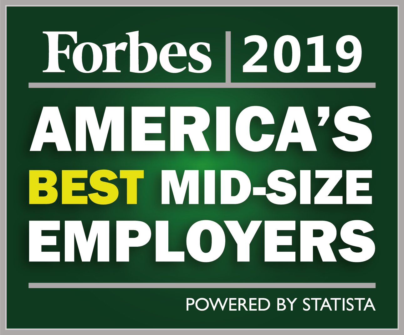 Forbes 2019 America's Best Mid-Size Employers