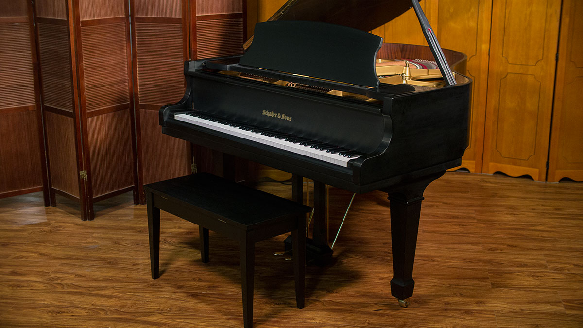 Schafer sons baby grand piano for sale online piano store for Size baby grand piano