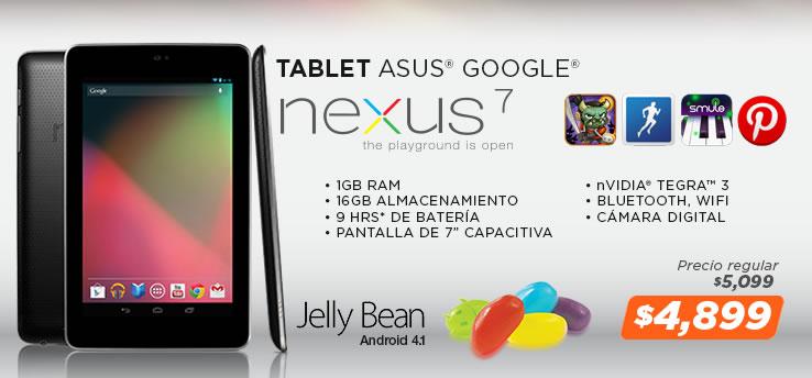 Tablet Nexus 7 en la Venta Nocturna de MiPC