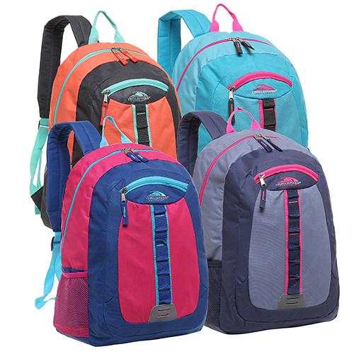 Trailmaker Daisy Chain Multi Compartment School Book Bag – Four Color