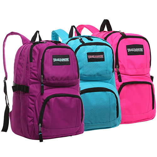 Trailmaker Classic Multi Compartment Wholesale Assorted School Bags – Pastel Colors