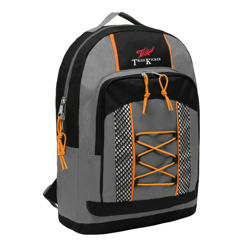 Wholesale Small Gray Elementary School Bungee Backpack