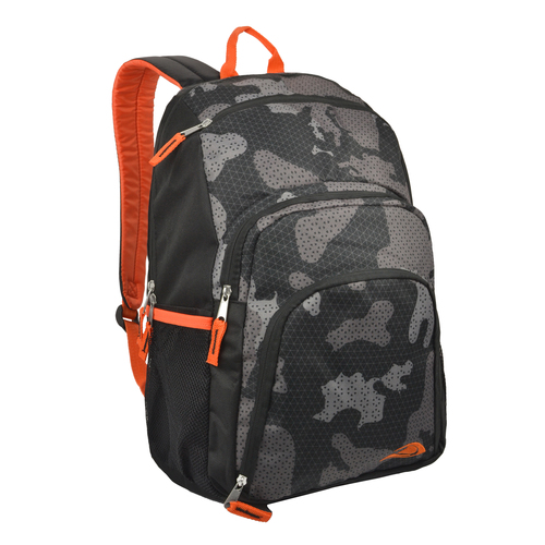 18 inch Trailmaker Camo Grid Sloped Top Unisex School Bookbag