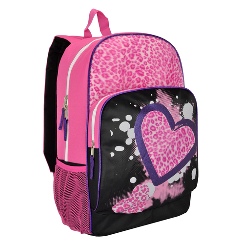 Trailmaker 17 inch Faux-Fur and Glitter School Bookbag Backpack for Girls