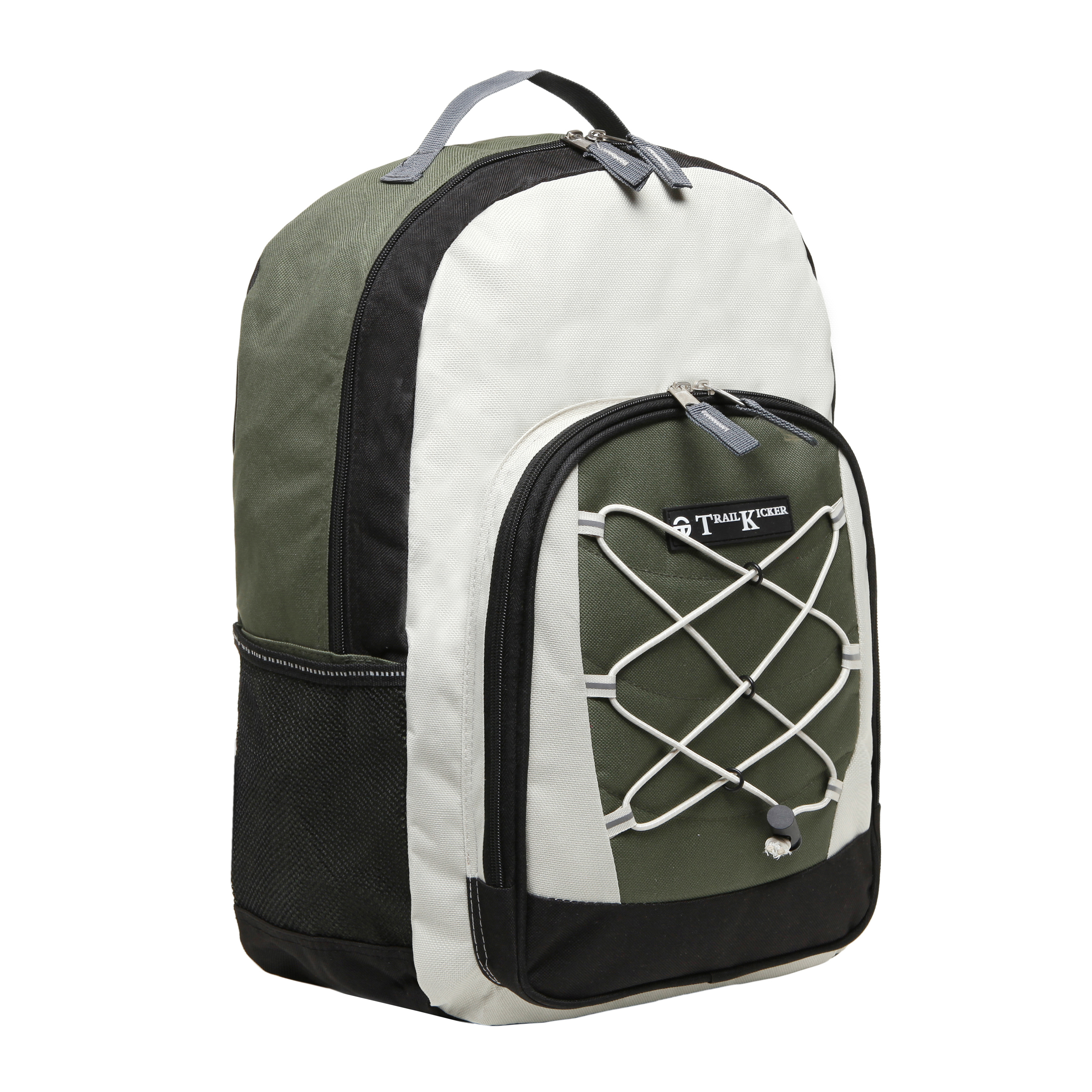 Wholesale Green Bungee Front Kids School Book Bag