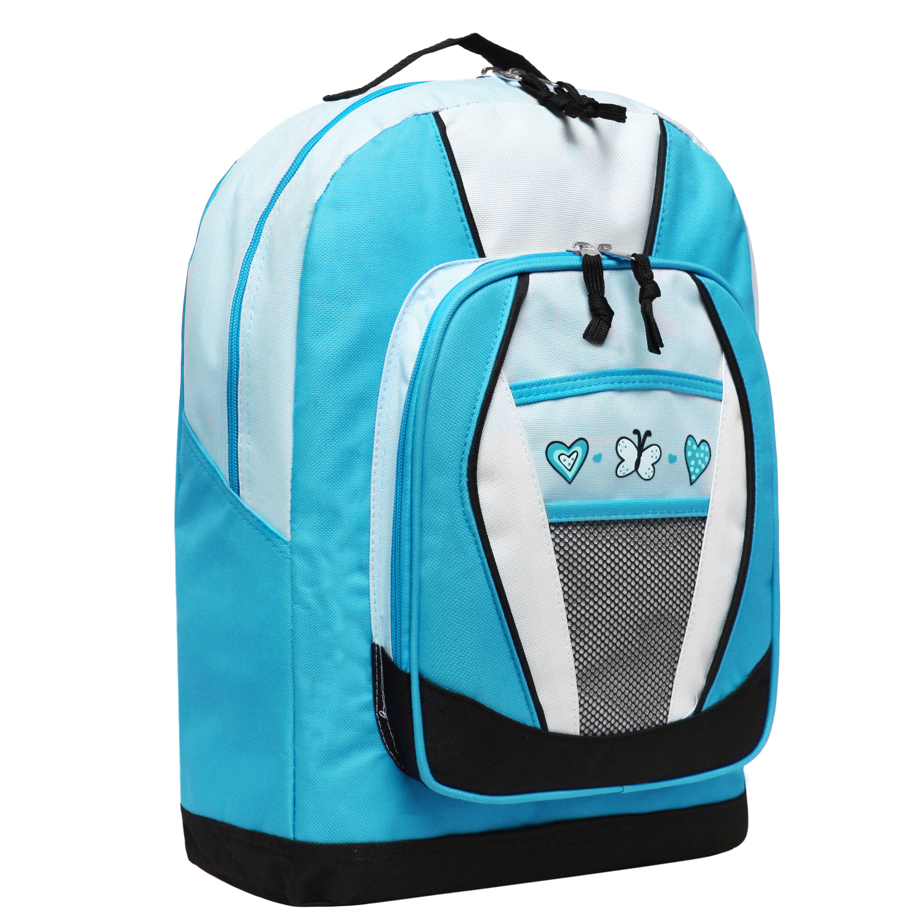 Blue Hearts and Butterflies Backpacks for Girls