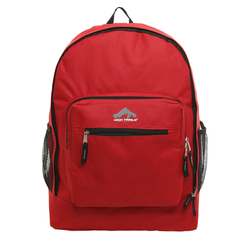 Classic Multi-Compartment 17.5 inch Kids Backpack - Red