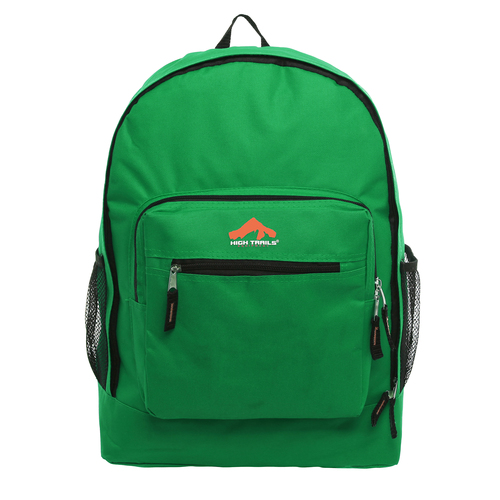Classic Multi-Compartment 17.5 inch Kids Backpack - Green