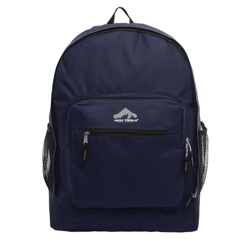 Classic Multi-Compartment 17.5 inch Kids Backpack - Navy Blue