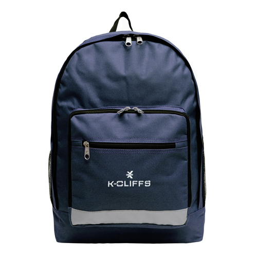 Wholesale Backpacks Navy Multi Compartment Full Size Backpack with Reflective Strip