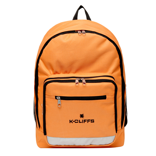 Wholesale Backpacks Orange Multi Compartment Full Size Backpack with Reflective Strip