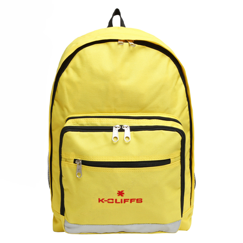 Wholesale Backpacks Yellow Multi Compartment Full Size Backpack with Reflective Strip