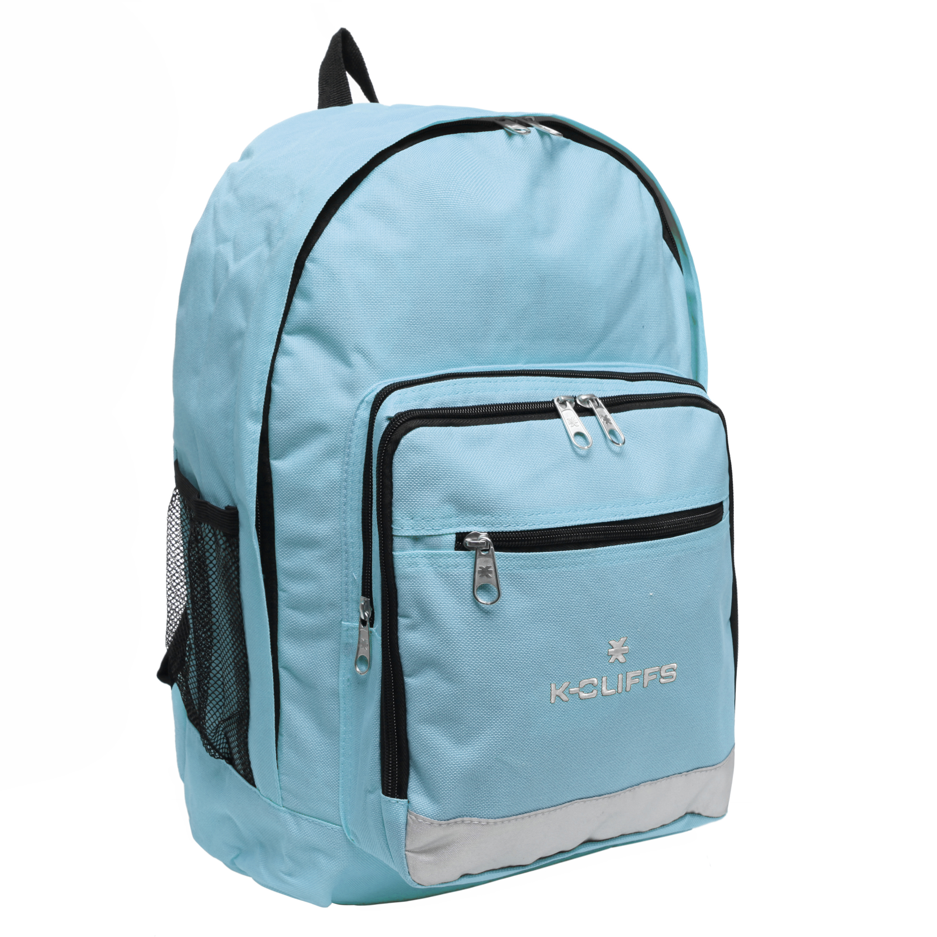 Wholesale Backpacks Blue Multi Compartment Full Size Backpack with Reflective Strip