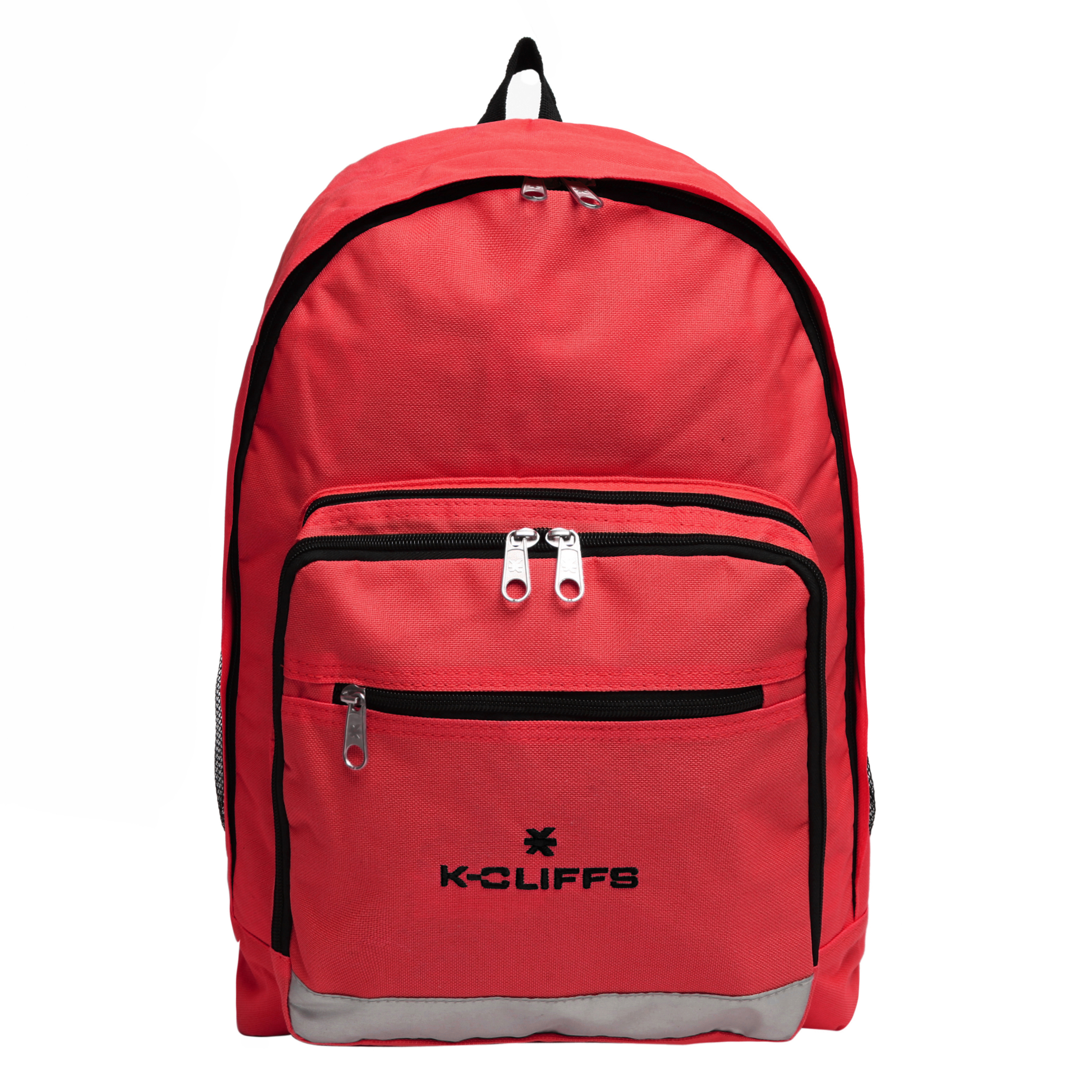 Wholesale Backpacks Red Multi Compartment Full Size Backpack with Reflective Strip