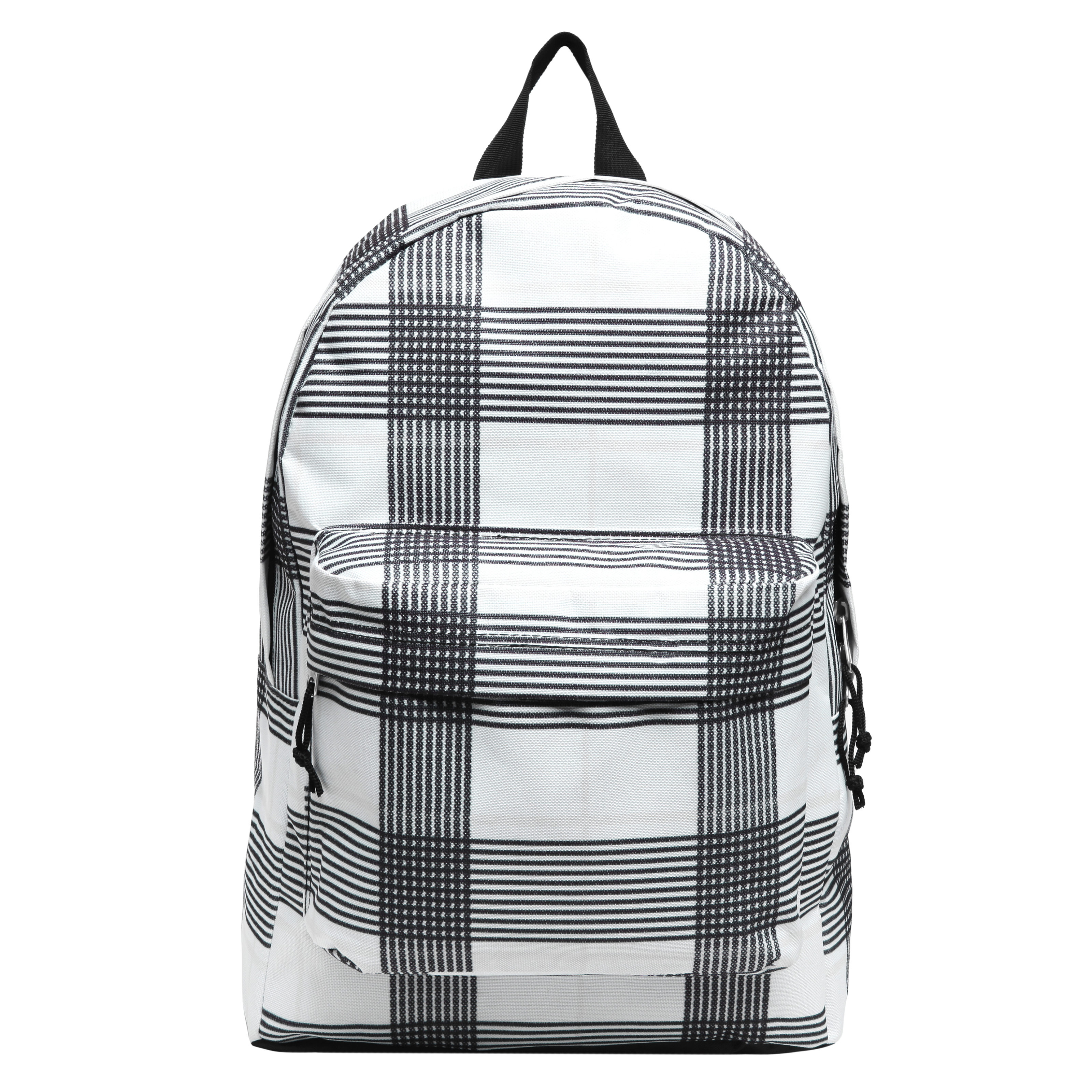 Black and White Cross Striped Kids Wholesale Backpack