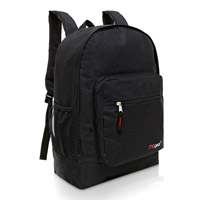 MGgear 17.5 inch Multi-Pocket School Book Bags In Bulk, Black