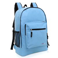 MGgear 17.5 inch Multi-Pocket School Book Bags In Bulk, Blue