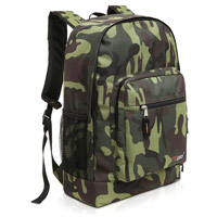 MGgear 17.5 inch Multi-Pocket School Book Bags In Bulk, Woodland Camo