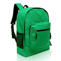MGgear 17.5 inch Multi-Pocket School Book Bags In Bulk, Green