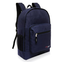 MGgear 17.5 inch Multi-Pocket School Book Bags In Bulk, Navy Blue