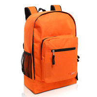 MGgear 17.5 inch Multi-Pocket School Book Bags In Bulk, Orange