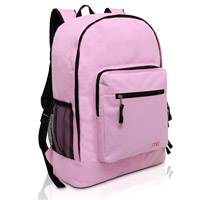 MGgear 17.5 inch Multi-Pocket School Book Bags In Bulk, Pink