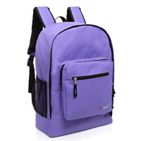 MGgear 17.5 inch Multi-Pocket School Book Bags In Bulk, Purple