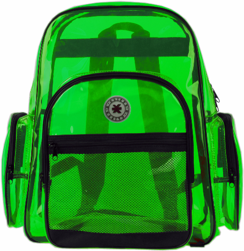 KCliffs Multi-Compartment Transparent Backpack Green