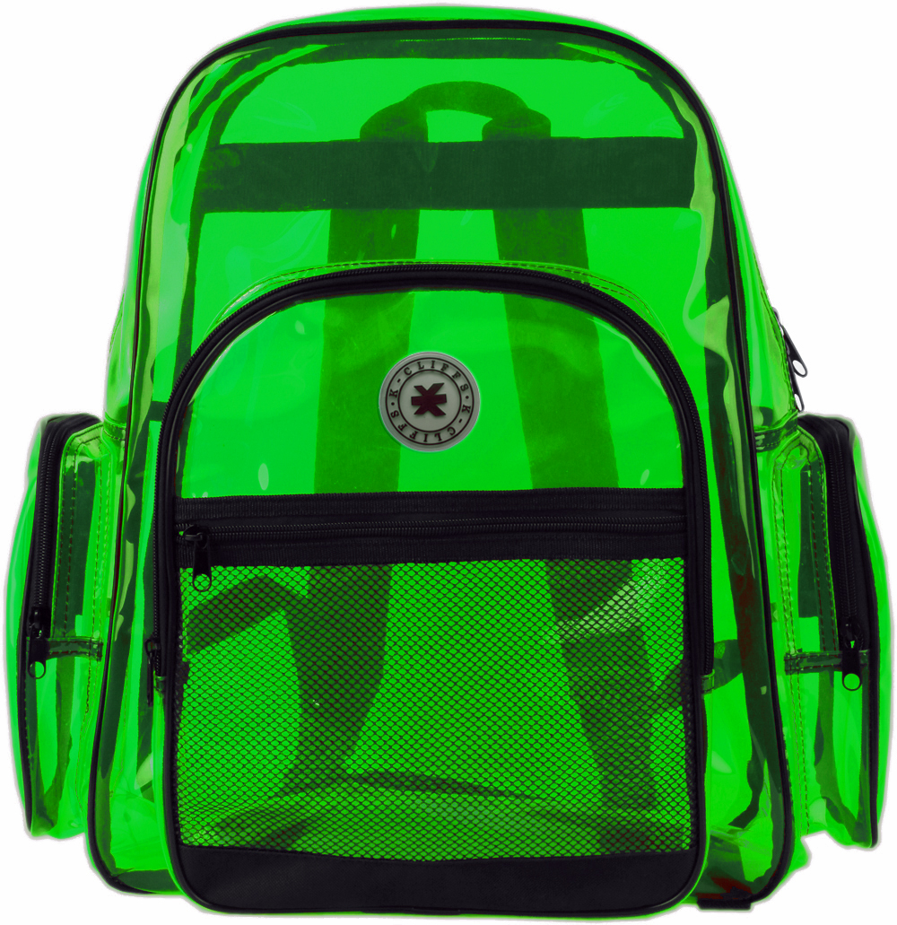 K-Cliff Multi-Compartment Transparent Backpack Green