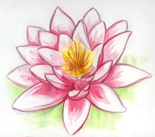 Desenho de flor de lotus 1