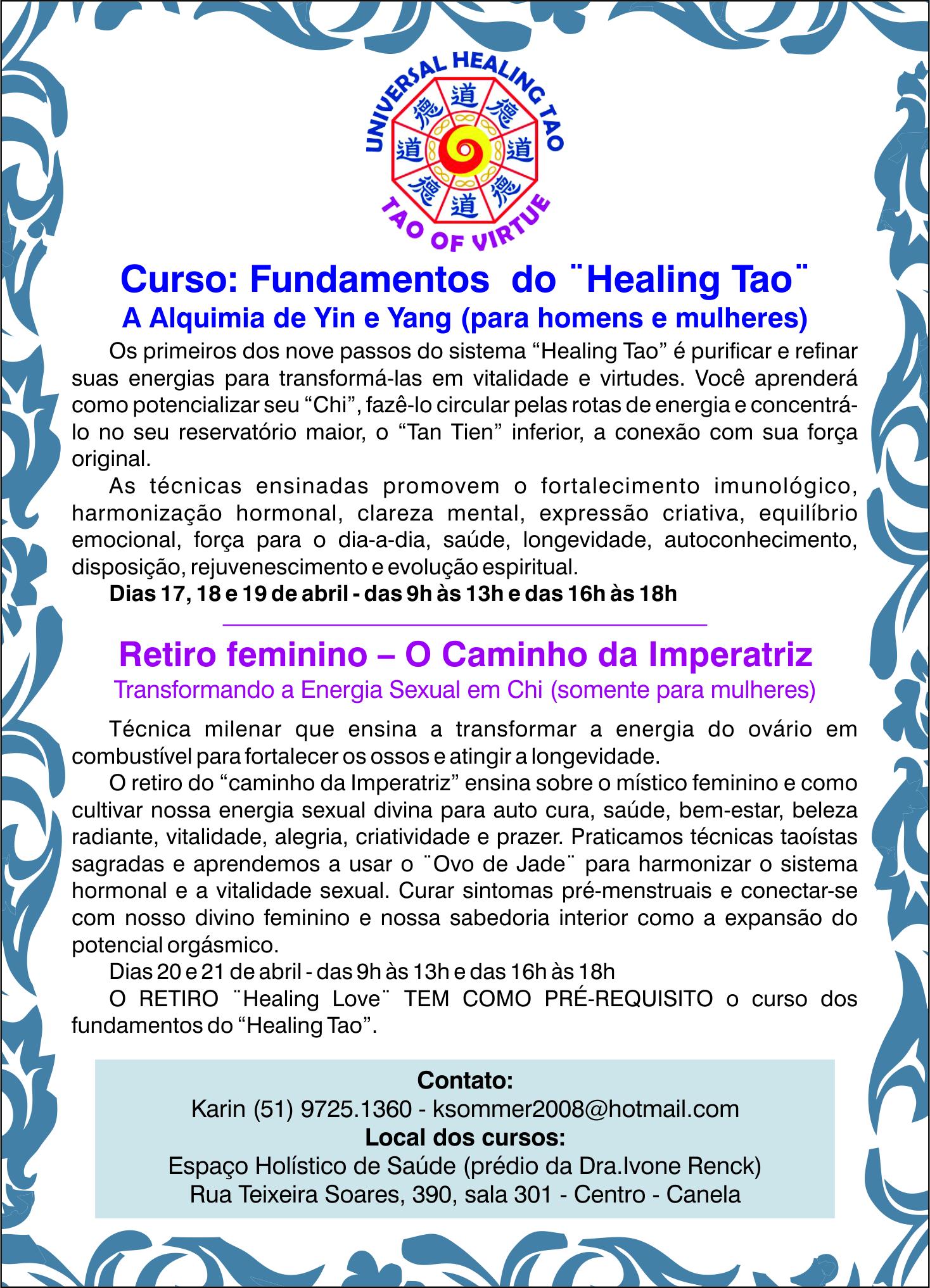 Healing tao marco 2014
