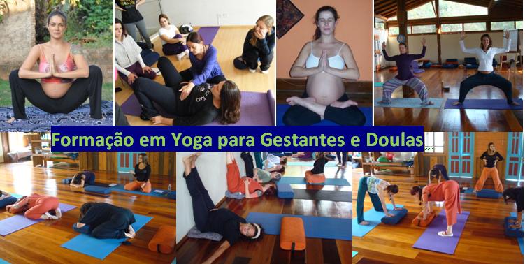 Cartaz yoga gestantes com fotos carmem perez