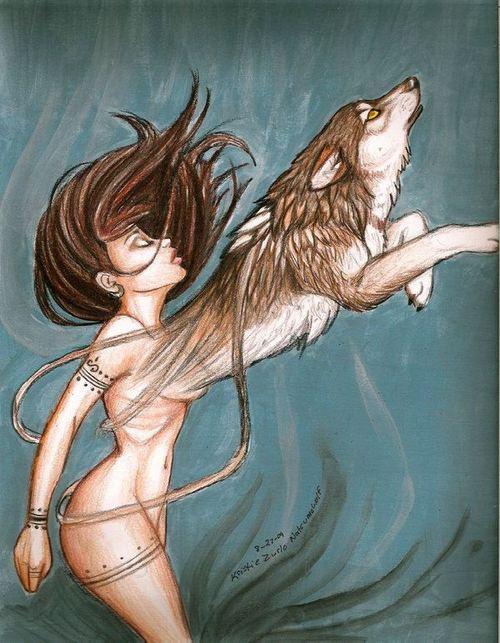 Mulher e lobo