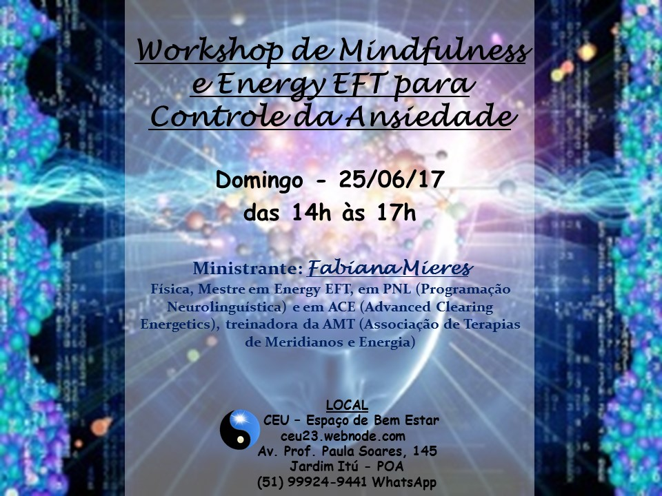 Workshop ansiedade 25 06 17