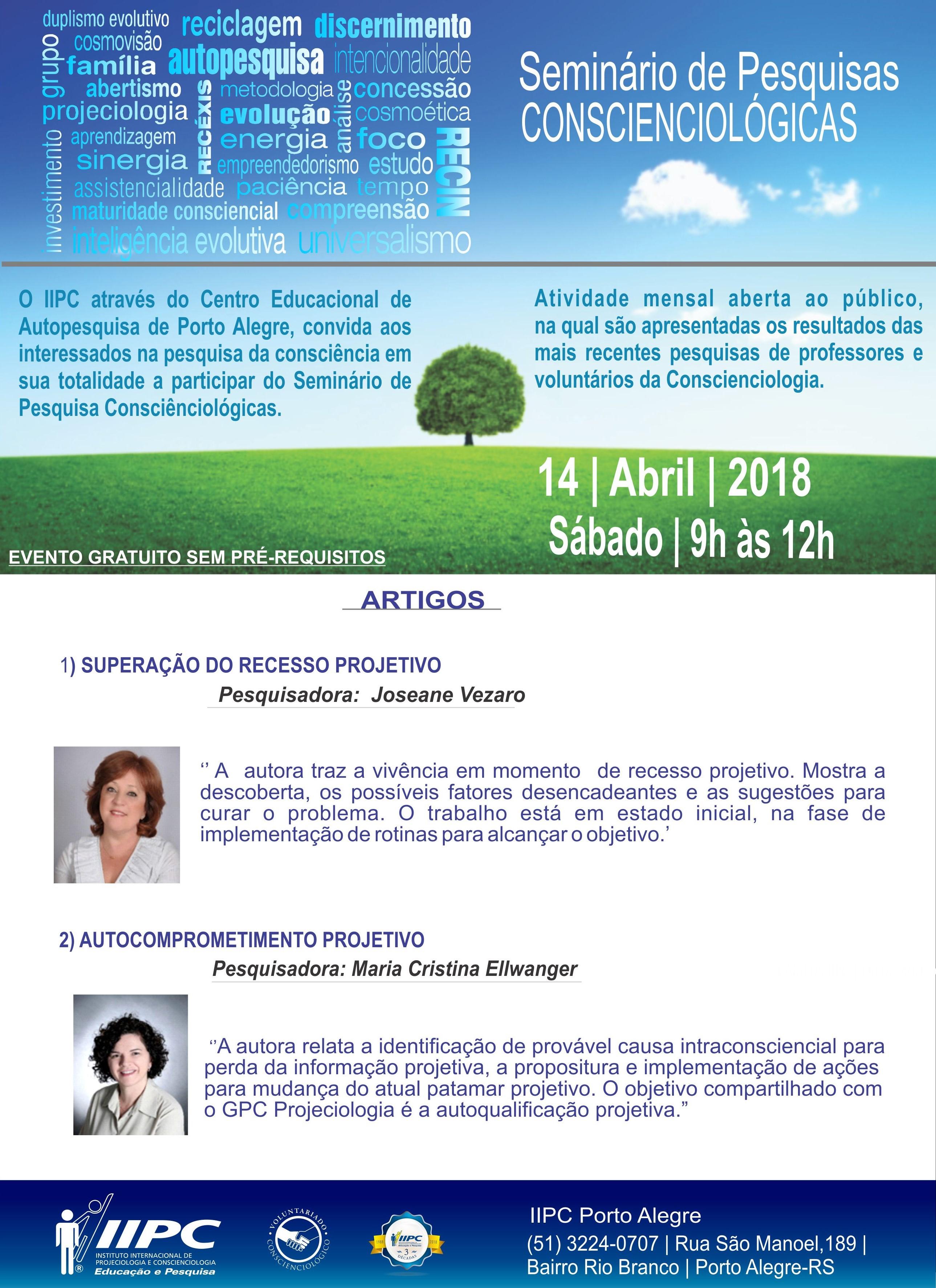 Seminario de pesquisas abril 2018