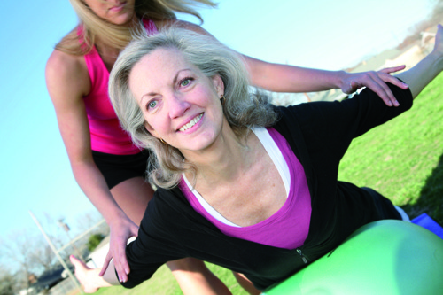 Pilates para os de maior idade