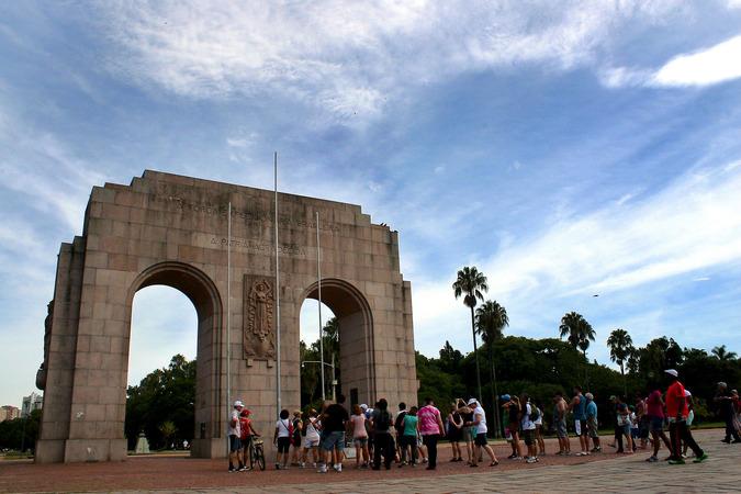 Caminhada turistica porto alegre